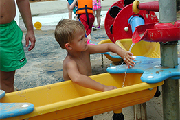 Boy playing at Family Aquatic Center