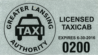 Taxi Permit Decal Example