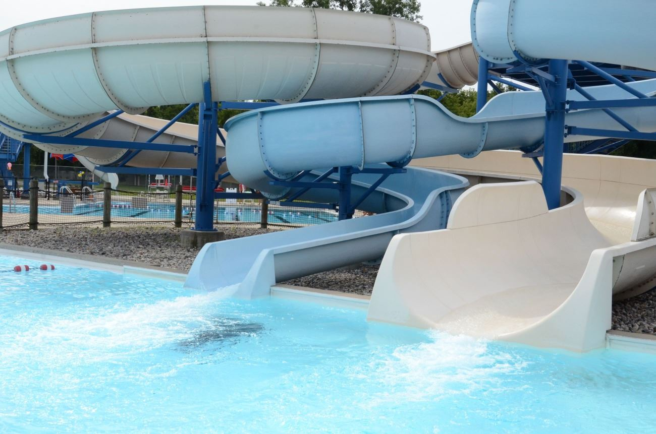 190-foot and 140-foot Water Slides